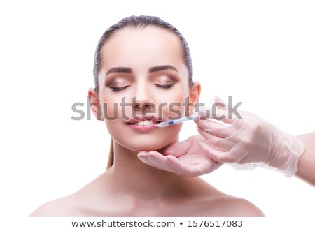 woman in beauty concept having botex facelift stock photo © elnur