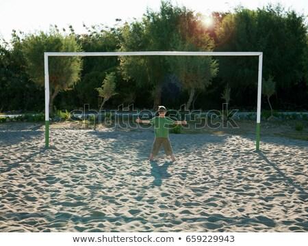 Ragazzo piedi calcio obiettivo estate esterna Foto d'archivio © IS2