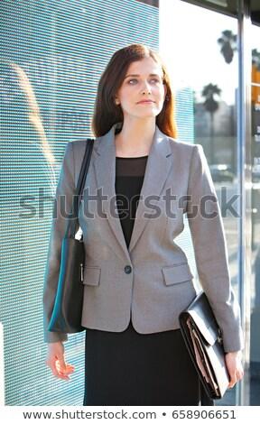 Işkadını Klasör ofis iş kadın Stok fotoğraf © IS2
