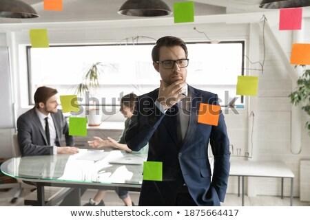 Europeo orador negocios presentación financieros diagrama Foto stock © studioworkstock