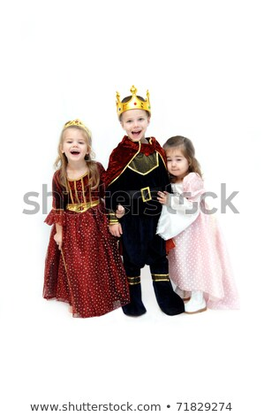 Three children in fancy dress costume Stock photo © IS2