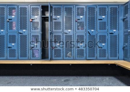 Locker room and a bench Stock photo © wavebreak_media