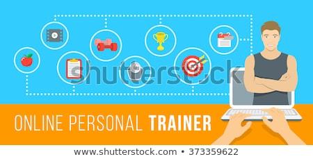 Young man fitness trainer online concept Stock photo © vectorikart