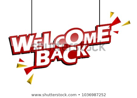 welcome back to school concept flat vector illustration stock photo © makyzz
