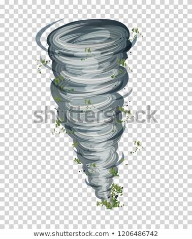 ciclone · trasparente · illustrazione · arte · nube · buio - foto d'archivio © bluering
