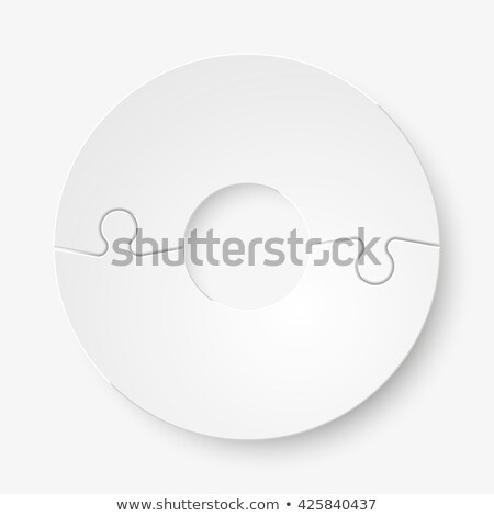 double piece flat puzzle two section compare service banner vector illustration stock photo © kyryloff