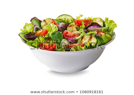 tranches · tomates · oignon · herbes · alimentaire · été - photo stock © homydesign