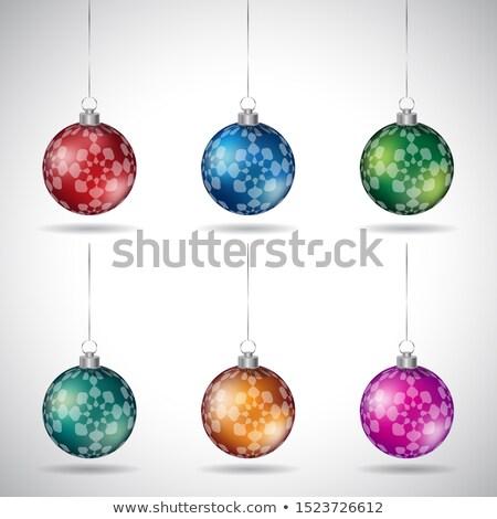 Рождества аннотация цветок дизайна серебро Сток-фото © cidepix