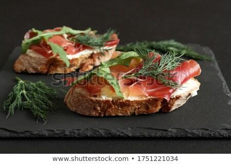 ヤギ乳チーズ トースト ヴィンテージ ファッション 自然 葉 ストックフォト © YuliyaGontar