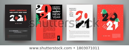 christmas signs for party in flat style vector stock photo © robuart