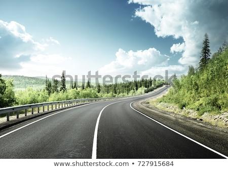 countryside road with beautiful mountain scene stock photo © colematt