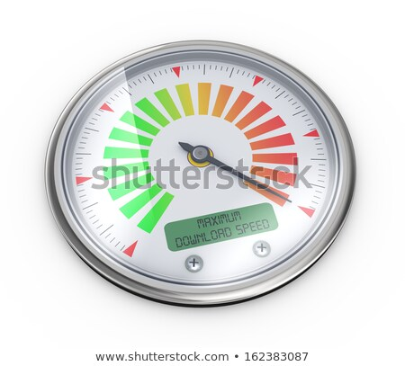 3d maximum download speed meter guage Stock photo © ribah