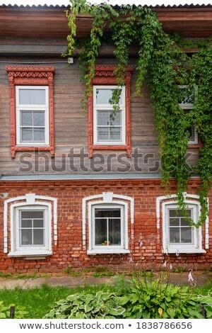 Casa de campo tijolos ilustração casa casa Foto stock © colematt