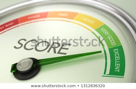 Business Credit Score Gauge Concept, Excellent Grade. Stock photo © olivier_le_moal