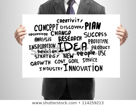 İş stratejisi işadamı plan sayfa vektör Stok fotoğraf © robuart