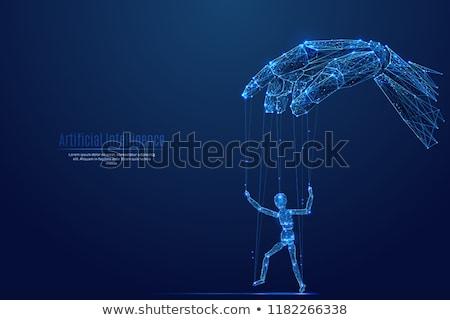 робота стороны марионетка 3d иллюстрации бизнеса технологий Сток-фото © limbi007