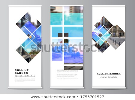 trendy rollup creative banner design template Stock photo © SArts