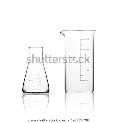 Realistic Empty Laboratory Glass Beaker Vector Сток-фото © pikepicture