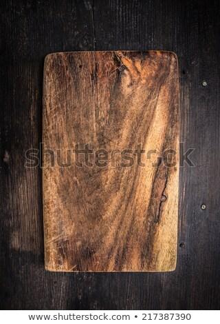 üres fából készült rusztikus vágódeszka űr szöveg Stock fotó © furmanphoto
