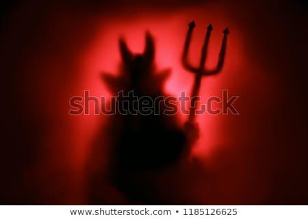Rosso diavolo fuoco illustrazione abstract design Foto d'archivio © bluering