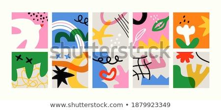 Básico colores establecer Cartoon aves ilustración Foto stock © izakowski