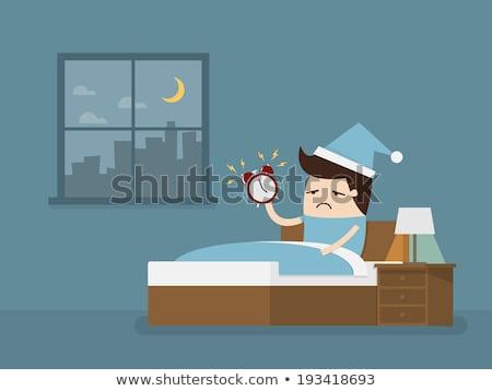 sleepy businessman with clock alarm  Stock photo © vladacanon