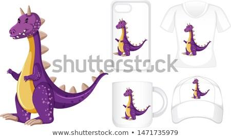 グラフィックデザイン 異なる 製品 紫色 龍 実例 ストックフォト © bluering
