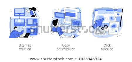 Kopiëren optimalisatie zoekmachine marketing business dienst Stockfoto © RAStudio