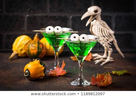 Foto stock: Assustador · beber · verde · martini · coquetel · coquetel