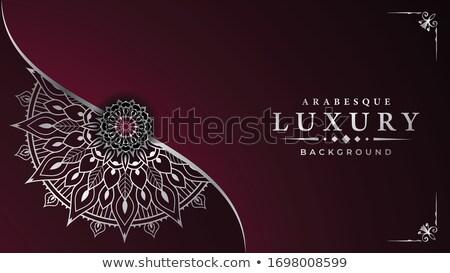 şablon mandala tasarımlar örnek renk duvar kağıdı Stok fotoğraf © bluering
