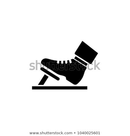 Pedal car icon flat Stock photo © smoki