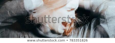 Schizophrenia. Panorama face Stock photo © nomadsoul1