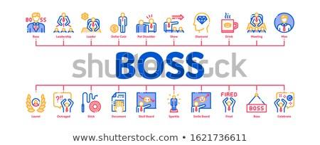 Szef liderem firmy minimalny banner Zdjęcia stock © pikepicture