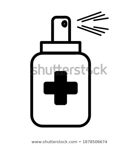 symbol biohazard and map china on white background isolated 3d stock photo © iserg