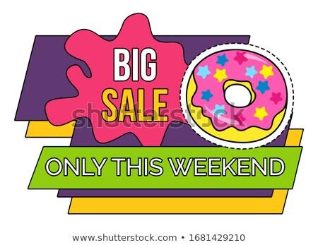 Duży sprzedaży weekend pączek ścieżka wektora Zdjęcia stock © robuart