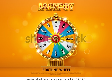 Game Machine and Fortune Wheel Spinning Vector Stock photo © robuart