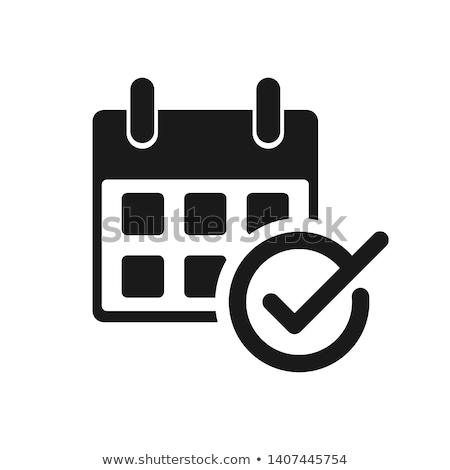 Calendar, planner or organizer icon with check marks. Save the date. Stock Vector illustration isola Stock photo © kyryloff