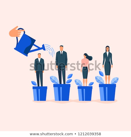 Personal achievement and employees training abstract concept vector illustrations. Stock photo © RAStudio