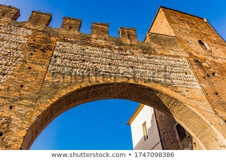 Scaliger gate walls in Verona, Italy Stock photo © boggy