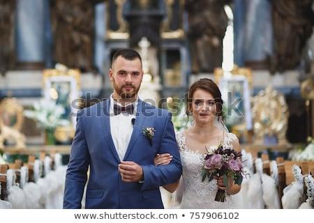 Details mooie huwelijksceremonie groot hal Stockfoto © ruslanshramko