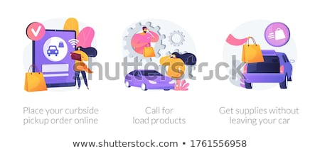 Curbside pickup abstract concept vector illustrations. Stock photo © RAStudio