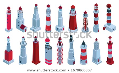 Lighthouse Beacon isometric icon vector illustration Stock photo © pikepicture