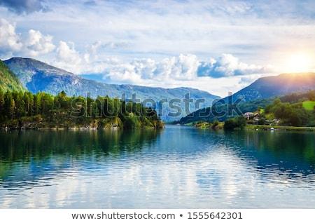 Mountain Lake with Cloud Stock photo © craig