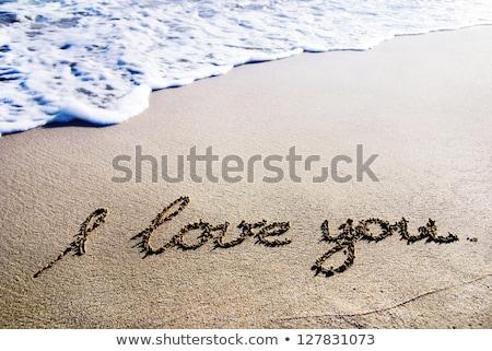 love you beach Stock photo © morrbyte