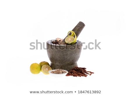 Citrom illatos bors közelkép fehér citromsárga Stock fotó © ShawnHempel