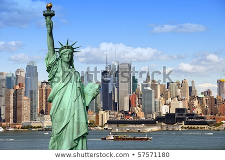 Vrijheid eiland standbeeld New York USA Stockfoto © phbcz