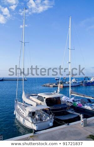 марина порта пляж воды солнце Сток-фото © lunamarina