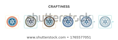 icon of crafty colorful hand Stock photo © marish