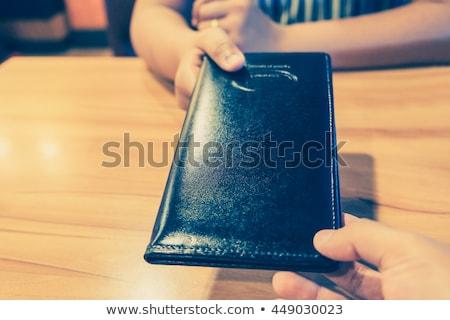 black waitress giving a menu Stock photo © photography33
