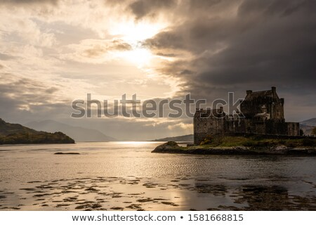 Scottish Highlands with dramatic sky Stock photo © prill
